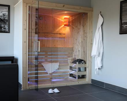 Wellness room with Finnish sauna in Naples - Best Western Hotel JFK